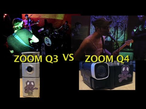 Zoom Q3 HD vs Zoom Q4 Camera Comparrision in Concert Setting