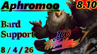 Aphromoo as Bard Support - S8 Patch 8.10 - Full Gameplay
