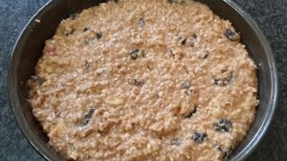 Oats cake recipe/Easy to make oatmeal cake recipe/Easy and healthy oatmeal cake recipe