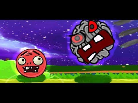 Red BALL. Красный ШАРИК в мире Зомби #2. BOSS. Видео для детей