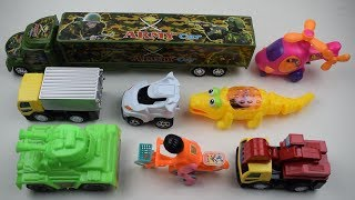 Colorful Transportation Vehicles toys with Learn Number & Colors, Army Car, Helicopter, Bicycle