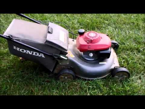 Honda HRR216 Harmony II Lawn Mower with the  Quadra Cut System – Craigslist Find - August 7. 2014