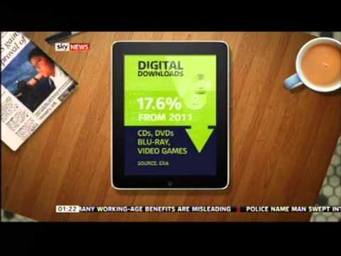 Digital entertainment sales smash £1bn barrier (Jan 2013) (Sky News coverage)