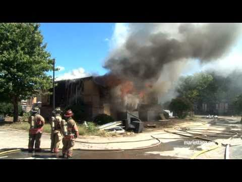 Fire department burns apartments for city park