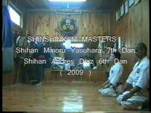 SHINSHINKAN ISSHIN RYU KARATE  - MASTERS TRAINING IN DOJO Image 1