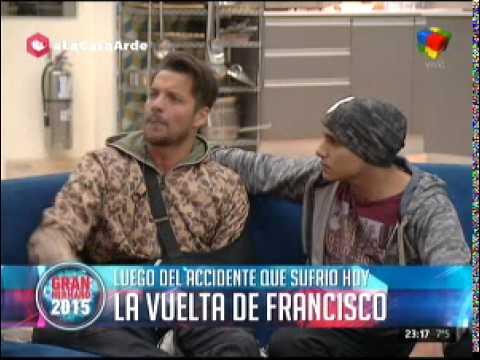 #GH2015: Francisco regresó a La Casa y tranquilizó a Mariano