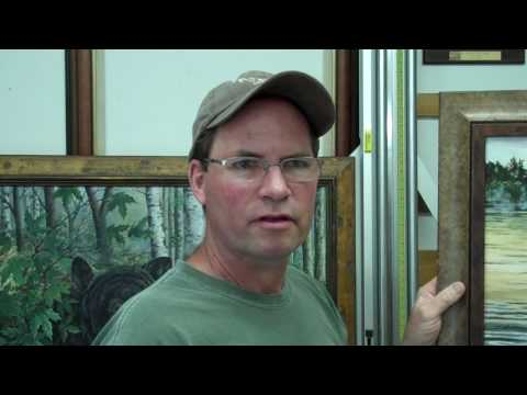 Gary interviews wildlife artist, Jeff Renner, at his Park Rapids, MN studio.