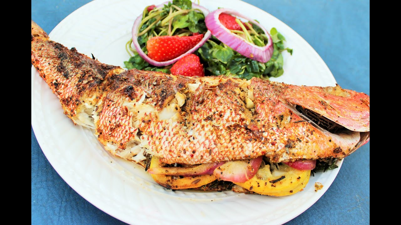 How to grill red snapper youtube for How to grill fish in oven