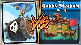 SKELETON BARREL TROLLING ARENA 1 IN CLASH ROYALE | FUNNY MOMENTS & SKELETON BARREL GAMEPLAY!