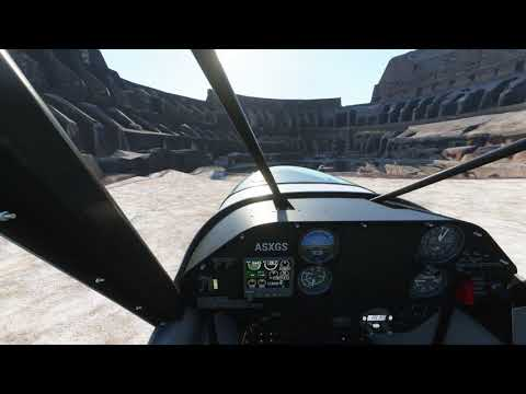 Extreme Landing+Takeoff inside Colosseum (Roma, Italy) in Microsoft Flight Simulator Premium Deluxe