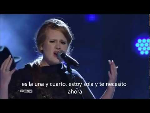 Adele   I Need you now live HD subtitulado esp   YouTube