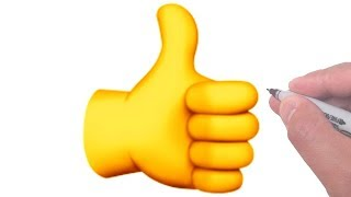 How to Draw the Thumbs Up Sign Emoji