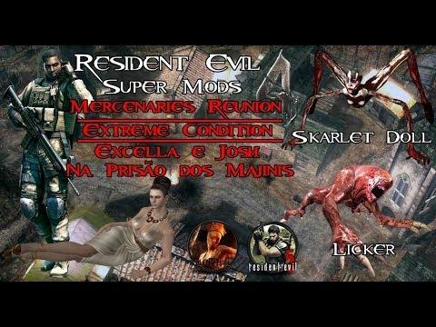 Resident Evil 4 -Mods Skins- Excella e Josh Extreme Condition na Prisão dos Majinis.