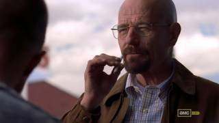 Walt and Jesse have a smoke