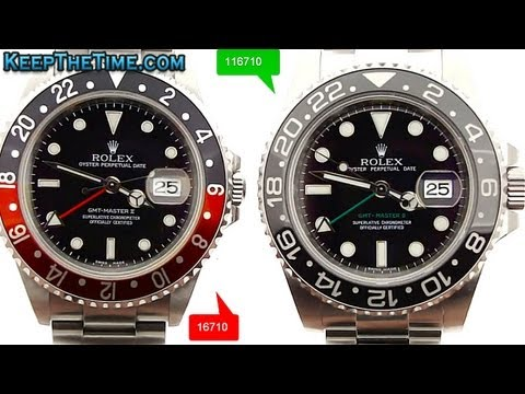 COMPARISON: Rolex GMT-Master II 16710 (coke) vs. 116710 (ceramic)