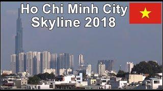 Saigon Skyscrapers Skyline / Ho Chi Minh City, Vietnam September 2018