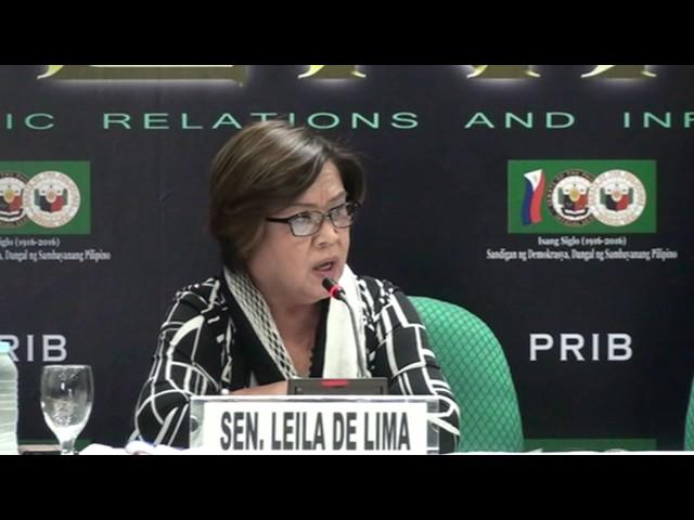 De Lima: 'Fake' House minority wants to vilify me