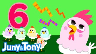 Six Chickens | Numbers Song for Kids | Learn Numbers | Preschool Songs | KizCastle