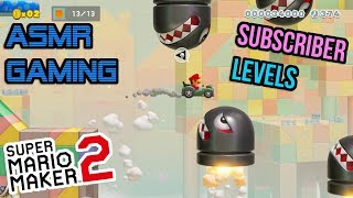 ASMR Gaming | Super Mario Maker 2 More Subscriber Levels 🎮🎧Controller Sounds + Whispering😴💤