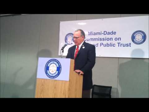 Cruz-Wiggins speech at the Miami-Dade Commission on Ethics and Public Trust