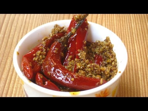 Easy Red Chili Pepper Pickle Recipe By Sonia Goyal in English