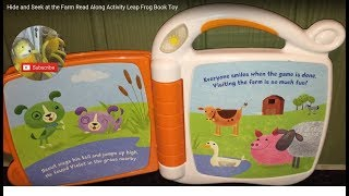 Hide and Seek at the Farm Read Along Activity Leap Frog Book Toy