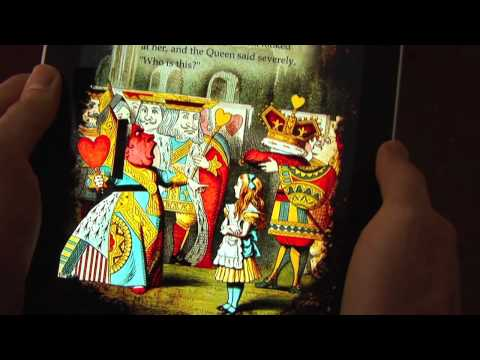 Thumb Interactive Alice in Wonderland book for the iPad