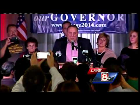 Uncut: Gov. Paul LePage's victory speech