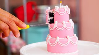 How To Make Five MINIATURE CAKES | PERFECT Beginner Fondant Cake | Yolanda Gampp | How To Cake It