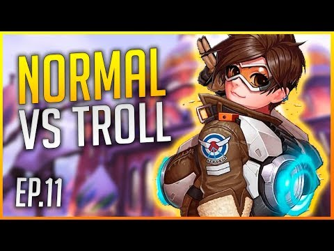 OVERWATCH RANKED: EQUIPO NORMAL VS EQUIPO TROLL   SMURF EP.11   Makina