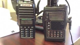 Comparing RX Yaesu VX-8DR vs. Baofeng UV82HP  Part 2