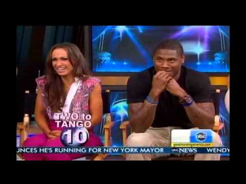 Jacoby Jones & Karina Smirnoff on GMA - DWTS Season 16 Week 10