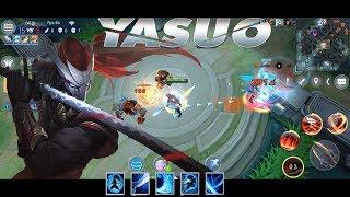 LOL Mobile : Đấng Yasuo nhập chém hết team địch (giống LOL 100%)