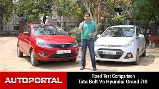 Tata Bolt Vs Hyundai Grand i10 Test Drive Comparison - Autoportal