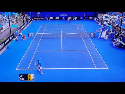 2014澳網Australian Open Men's Singles Round 2~Yen-Hsun Lu盧彥勳 v Dimitrov (三)雖敗猶榮