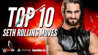 WWE 2K16 Seth Rollins Top 10 Moves! |  EspacioNinja.com Top 10 Moves series