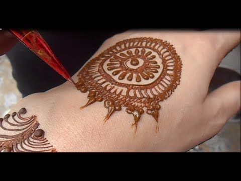 Full Video Easy & Simple Mehndi Design # Cute Henna Mehendi...