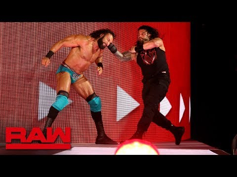Roman Reigns unleashes an all-out assault on Jinder Mahal: Raw, May 14, 2018 thumbnail