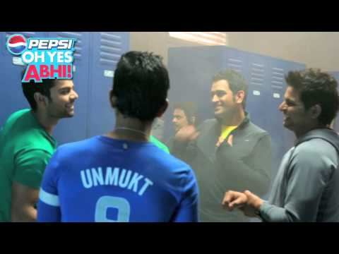 Unmukt Chand Campaign - Making of TVC - Pepsi Oh Yes Abhi