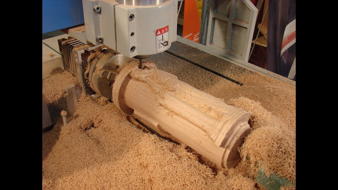 32 CNC 6090 Router 4th Axis Angel By Inventor Roger Clyde Webb - YouTube