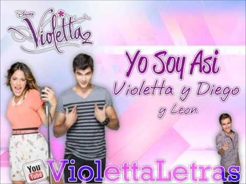 Yo soy asi- Violetta y Diego y Leon.