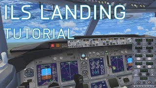FSX How to Land with ILS   Autopilot Landing   Boeing