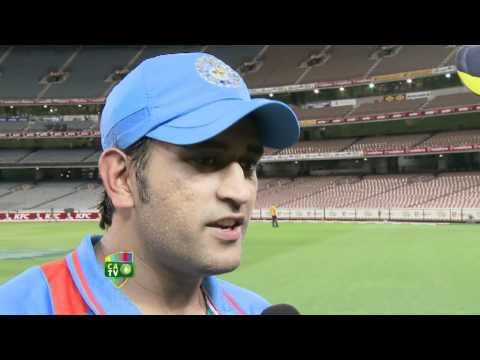 Feb 3rd: MS Dhoni and Ravindra Jadeja post match