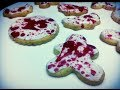 HOW TO MAKE BLOOD SPLATTERED COOKIES