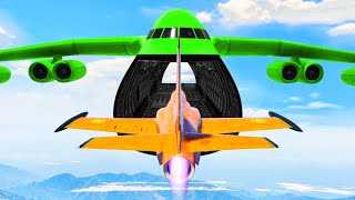 100% IMPOSSIBLE PLANE STUNTS! (Gta 5 DLC)