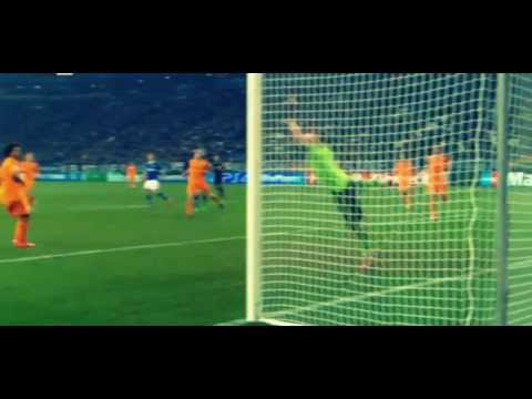 Klaas Jan Huntelaar Amazing Volley - Schalke vs Real Madrid 1:6 - 26.02.2014