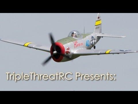 Dynam P-47D - Maiden Flight - SN Hobbies