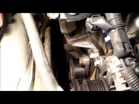 DIY How to install replace drive belt tensioner 2004 Toyota Camry