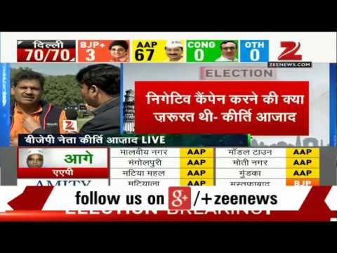 Delhi election results: BJP MP Kirti Azad talks exclusively to Zee Media