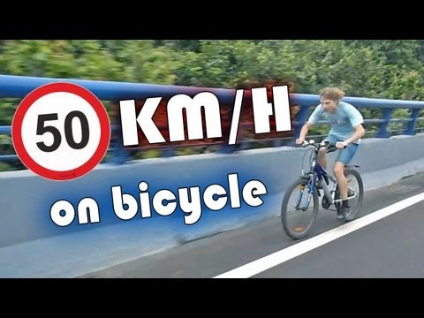 50 km/h on bicycle